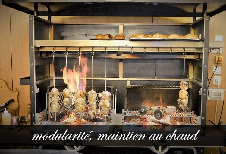Tournebroche multifonction au feu de bois la r f rence for Grill cuisine professionnelle