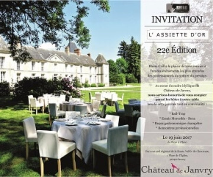invitation assiette d'or 2017 au chateau de janvry
